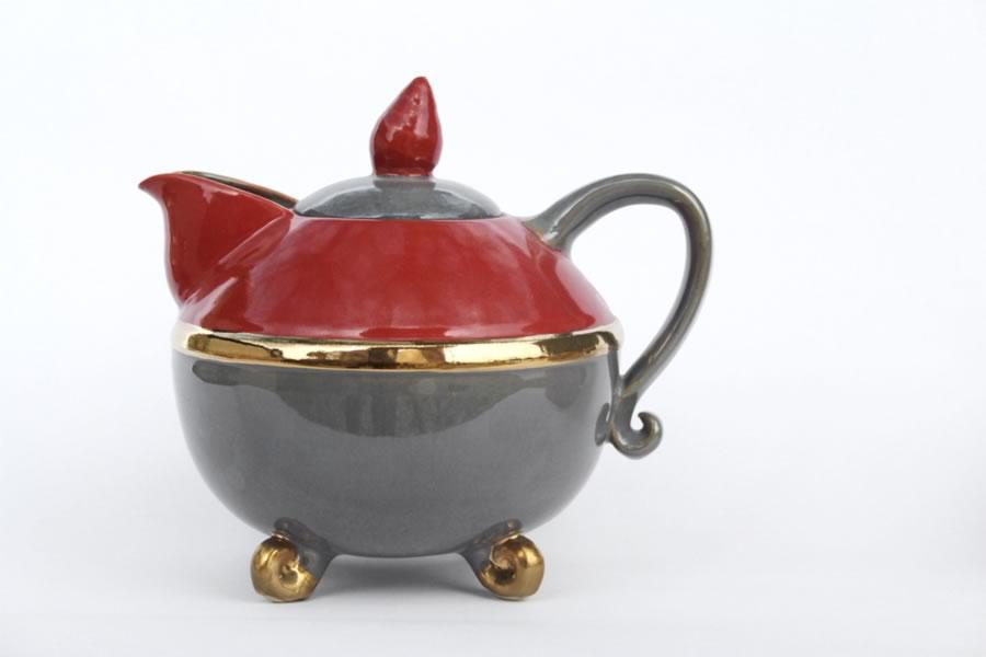 Teekanne  H 20 cm D 25 cm
