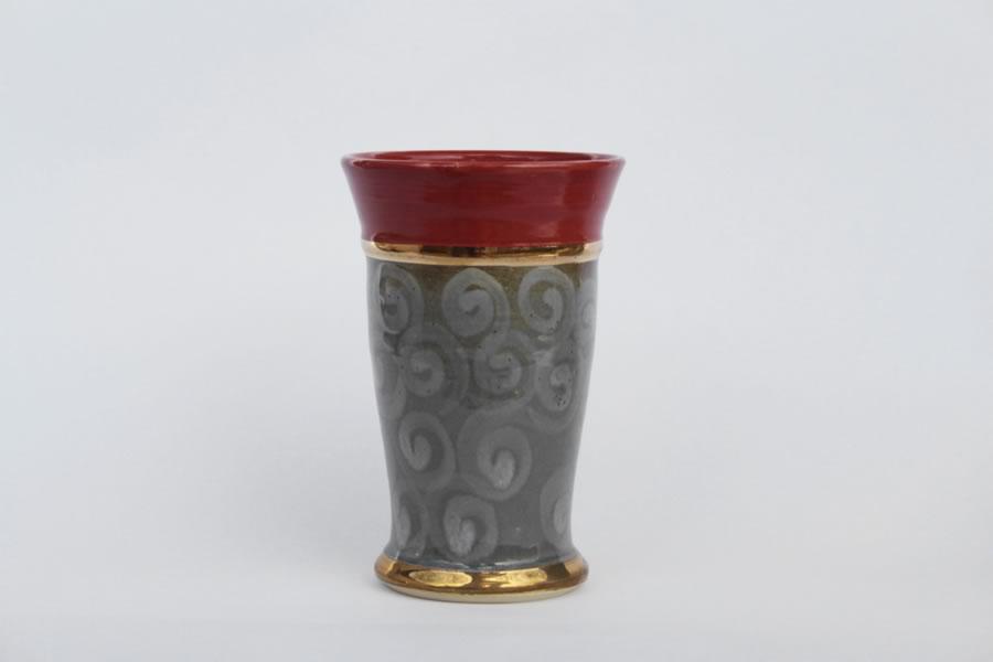 Vase  H 22 cm D 12 cm